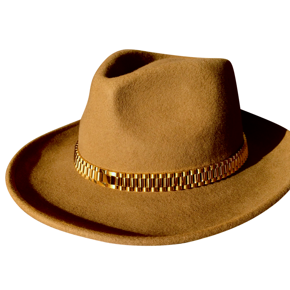Load image into Gallery viewer, The PRESII: Beige Fedora Hat