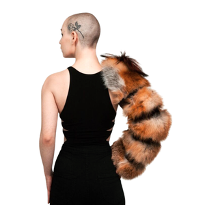 Load image into Gallery viewer, Single Layered Fur Sleeve (Natural Red Fox)