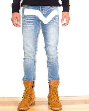 Load image into Gallery viewer, Front Valley Denim (w/Hand Painted Valley)