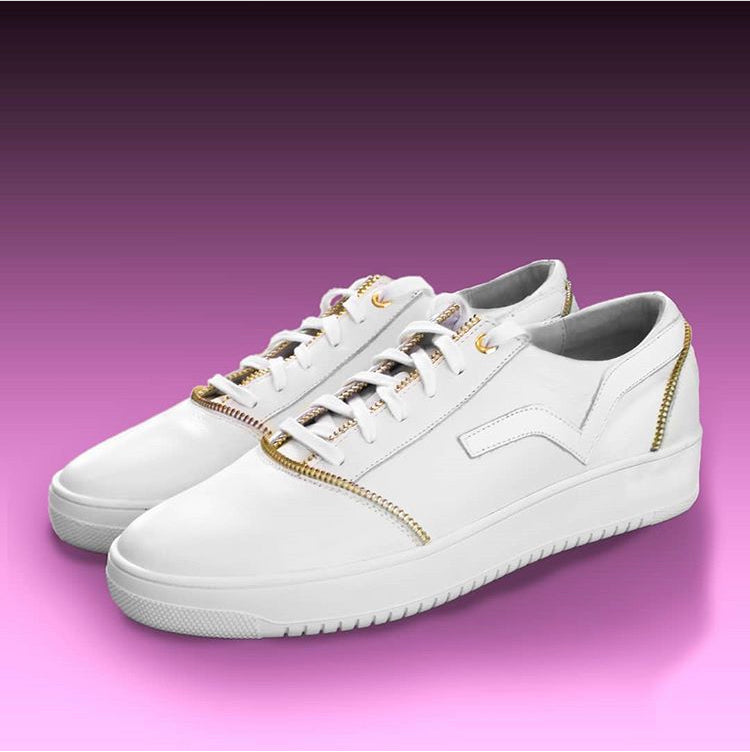 PRSVR White Leather Lowtop Sneaker