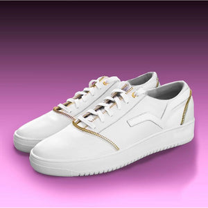 Load image into Gallery viewer, PRSVR White Leather Lowtop Sneaker