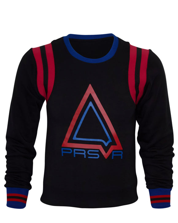 Varsity Pyramid Sweater (Black)
