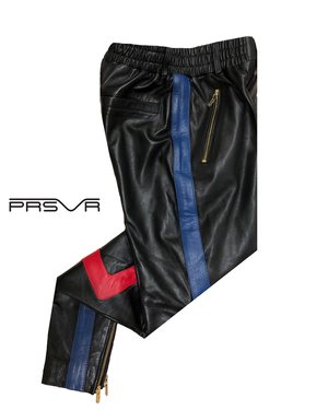 prsvr valley leather track pants