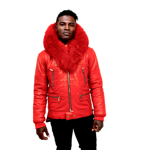 Load image into Gallery viewer, Down Winter Coat with Fox Fur Collar