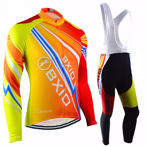 Winter Thermal Fleece Cycling Sets Super Warm