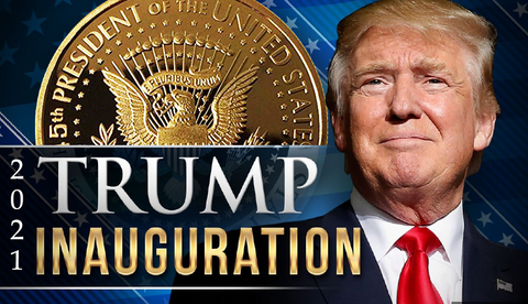 2021 Keep America Great Doald Trump Gold Coin | Official Snowflake Detector/Kryptonite | Ramp Up Now For The 2020 Electoral Win & 2021 Inauguration | 24kt Gold Plated Medallion, Stand & Display Case