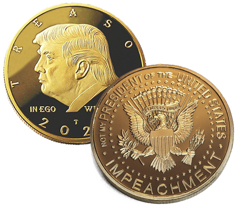 Image of Not My President - Original 24kt Gold Plated Genuine Anti Trump Coin - The Coin Says it all - The Perfect Anti Trump Gifts & Funny Novelty Gag Gift For The Trump Lover In your Life
