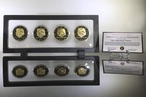 Image of eTradewinds Donald Trump 2nd Term 4 Coin Set, Rectangle Display Case, Cert. of Auth