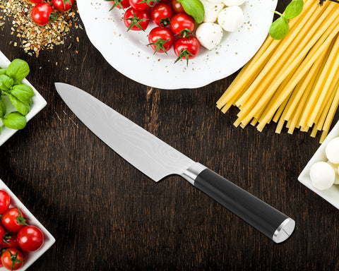Image of Professional 8 Inch Chef Knife,Premium Japanese High Carbon Stainless Steel Kitchen Classic Chef's Knives Sharp Chefs Knife with Sheath Gift Box