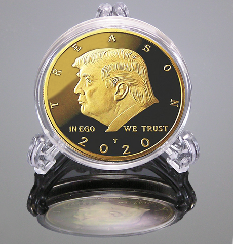 Not My President - Original 24kt Gold Plated Genuine Anti Trump Coin - The Coin Says it all - The Perfect Anti Trump Gifts & Funny Novelty Gag Gift For The Trump Lover In your Life