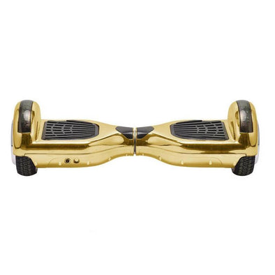 Chrome Gold Classic Segways Hoverboard 6.5 Inch for Sale with Samsung Battery, UL Certified UK Charger + Warranty