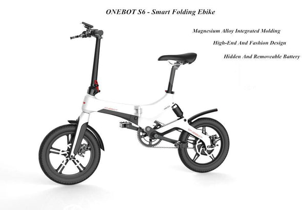 Onebot Sport S6 pedal assist Pedelec folding electric bike - CHEAPER THAN GOCYCLE G3 - TheSwegWay-UK