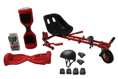 UL Certified Red classic Swegway Buy HoverKart-X Bundle, hoverboard kart - TheSwegWay-UK