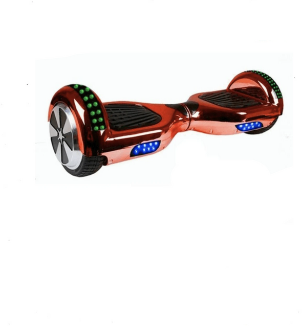 Stylish Chrome 6.5 Inch Red Samsung Segway Bluetooth Hoverboard with Led - App Enabled - TheSwegWay-UK