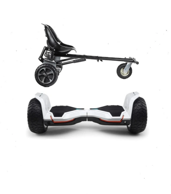 UPDATED White Warrior Hoverboard Hummer, Hoverkart Bundle with App Control-TheSwegWay-UK