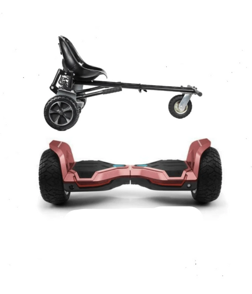 UPDATED Red Warrior Hoverboard Hummer, Hoverkart Bundle with App Control