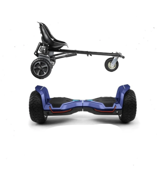 UPDATED Blue Warrior Hoverboard Hummer, Hoverkart Bundle with App Control