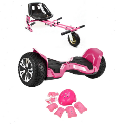 UPDATED Pink Warrior Hoverboard Hummer, Hoverkart Bundle with App Control-TheSwegWay-UK