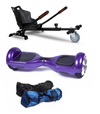 Hoverkart + Chrome Purple Disco Hoverboard Bundle + Protective Leather case - TheSwegWay-UK