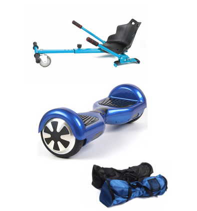 Blue classic Swegway Hoverkart Hoverboard seat Bundle - TheSwegWay-UK