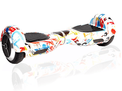 2019 Limited Edition White Graffiti Classic 6.5inch Segway Hoverboard-TheSwegWay-UK