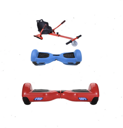 2019 SUPER MARIO - 6.5 Red classic Swegway Hoverboard + Red Hoverkart Bundle Deal + Blue Protective case-TheSwegWay-UK