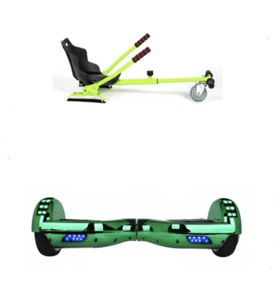2019 SUPER MARIO YOSHI - 6.5 green classic Swegway Hoverboard + Green Hoverkart Bundle Deal-TheSwegWay-UK