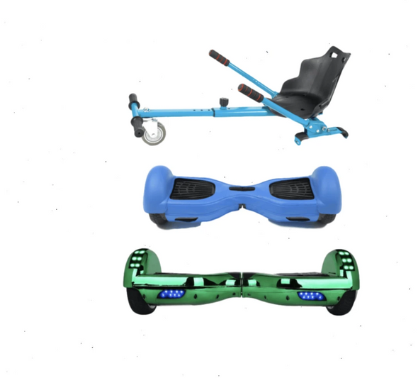 2019 SUPER MARIO LUIGI - 6.5 Green classic Swegway Hoverboard + Blue Hoverkart Bundle Deal + Blue Protective case-TheSwegWay-UK