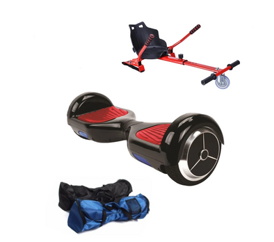 Hoverkart + Black classic Hoverboard  + FIDGET SPINNER - TheSwegWay-UK