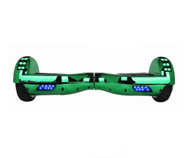 Green Classic Disco 6.5 Inch Segway Chrome Hoverboard - App Enabled - TheSwegWay-UK