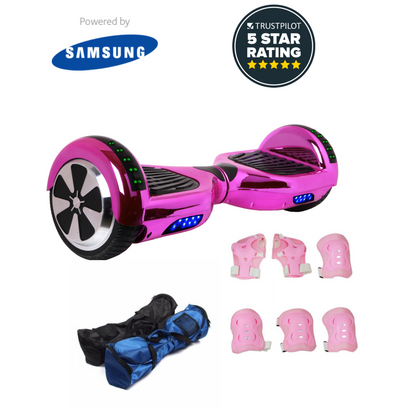 6.5 BLUETOOTH & APP ENABLED CHROME PINK HOVERBOARD - POWERED BY SAMSUNG - TheSwegWay-UK