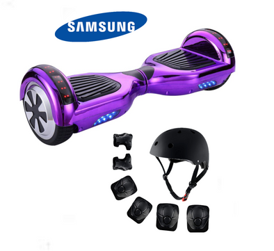 Chrome Purple Segway Bluetooth Hoverboard for Sale with Free Protective set
