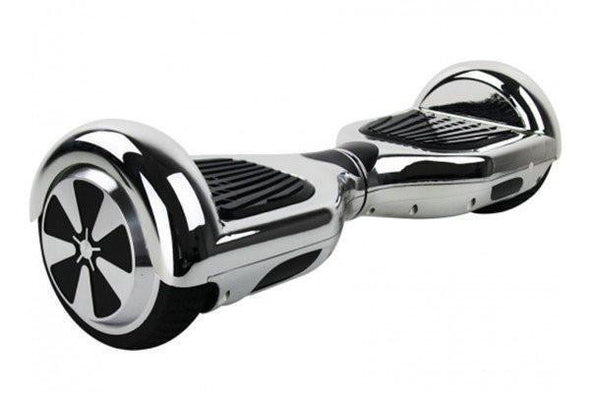 Silver Classic Bluetooth Segway Chrome Hoverboard for Sale with Samsung Battery, UK Charger + FIDGET SPINNER - TheSwegWay-UK