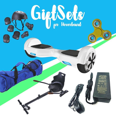 6.5  White classic Hoverboard + Hoverkart Bundle - 30% sale Offer - TheSwegWay-UK