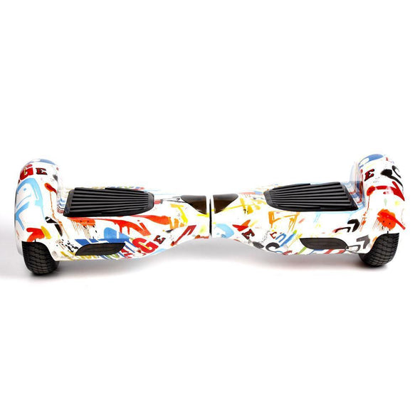 2019 Limited Edition White Graffiti Classic 6.5inch Segway Hoverboard - TheSwegWay-UK