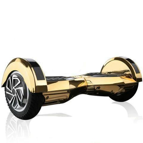 The Swegway Chrome Gold 8 Inch Hoverboard Segway Balance Board