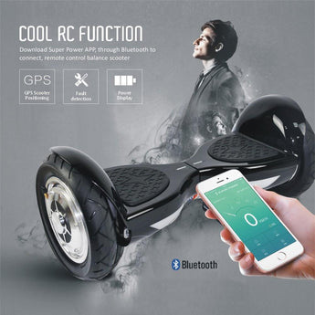 2017 UPDATED Black 10   Swegway Hoverboard with APP CONTROL   Segwayfun