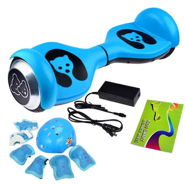 Blue Mini Teddy Bear Segway Hoverboard for Kids with Helmet + Pad for Sale + Fidget Spinner in 20% Offer - TheSwegWay-UK