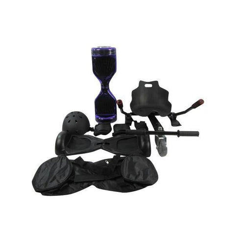 Stylish Purple Disco Bluetooth classic Segway buy Hoverkart Hoverboard seat Bundle + Fidget Spinner in 20% Offer