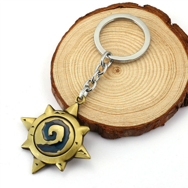 Fashion 3D Hearthstone Keychains Heroes Of Key Chains Ring Top Grade Best Friend Vintage Metal Keychain For Fans