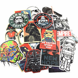 25 kinds Star Wars waterpoof fuel cap creative sticker for Skateboard Laptop Luggage Fridge Phone Styling home Toy Sticker