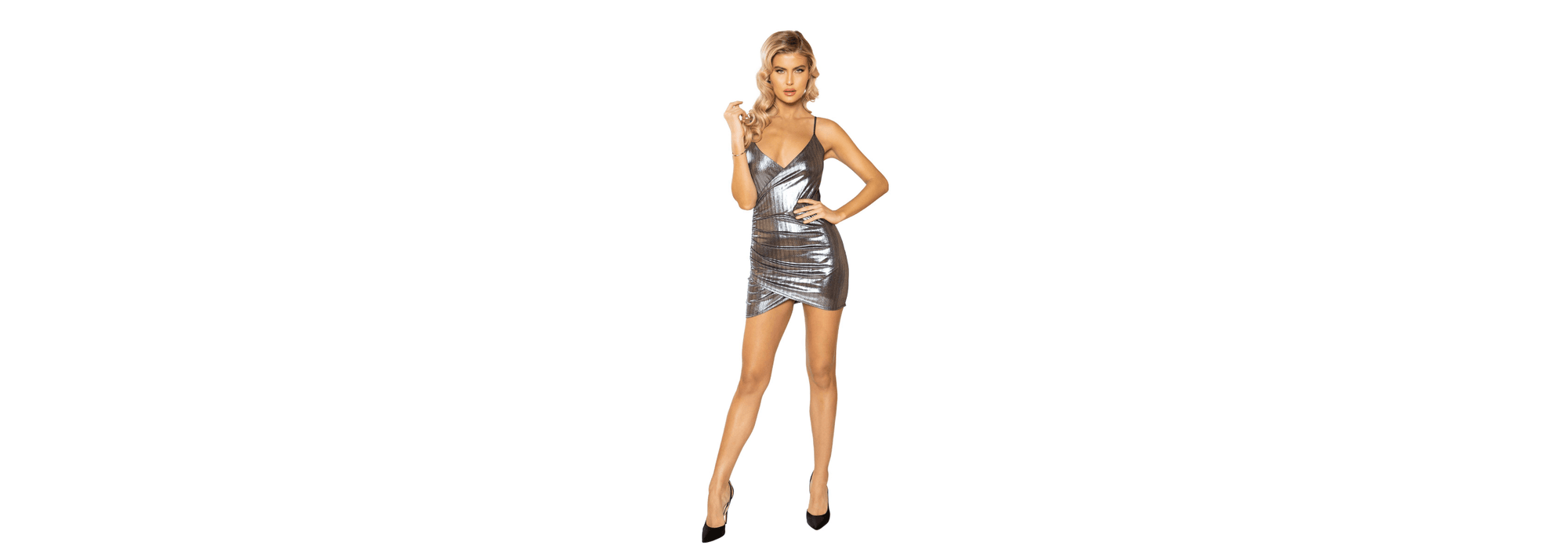 Shimmer Silver Cocktail Dress