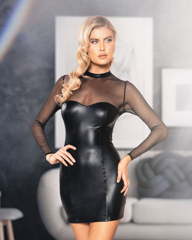 RaveFix Sheer Mesh Long Sleeved Dress - 10% off and Free Same Day Shipping