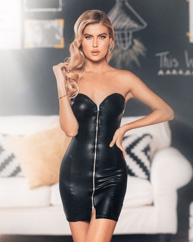 RaveFix Mini Tube Dress with Zipper Closure - 10% off and Free Same Day Shipping