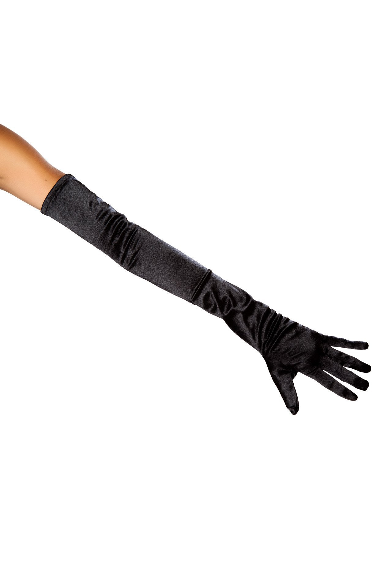 Buy Stretch Satin Gloves from Rave Fix for $5.62 with Same Day Shipping Designed by Roma Costume 10104-Blk-O/S