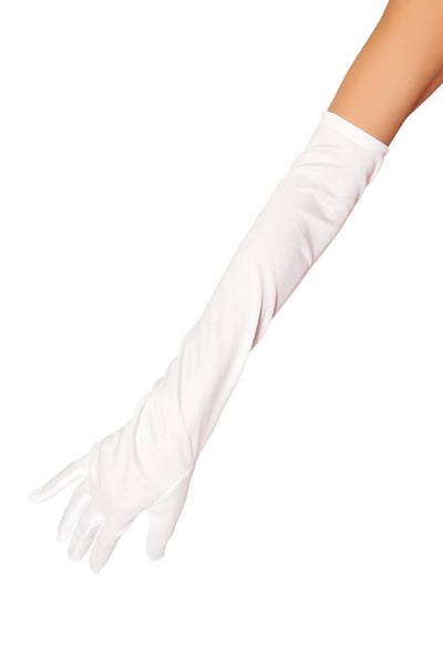 Buy Stretch Satin Gloves from Rave Fix for $5.62 with Same Day Shipping Designed by Roma Costume 10104-Wht-O/S