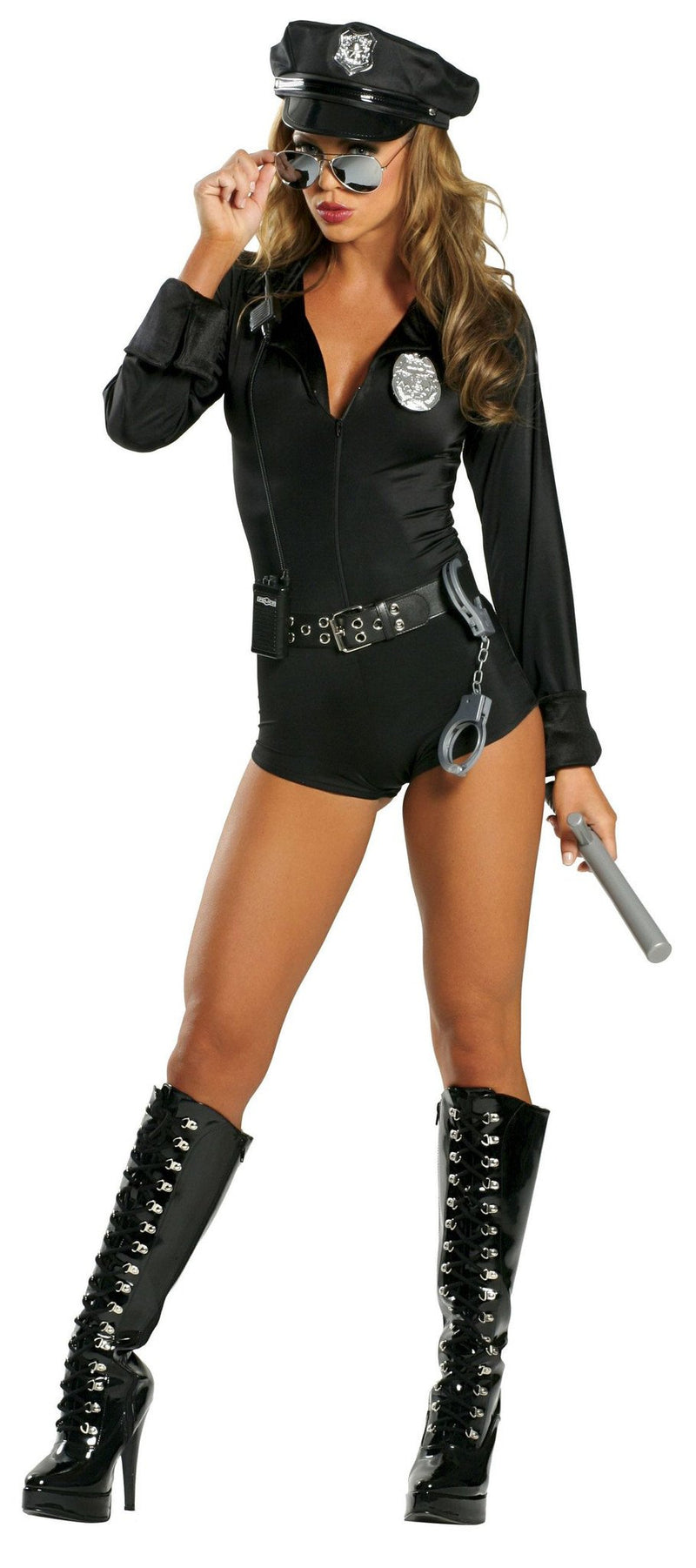 Buy 7PC Lady Law from Rave Fix for $59.99 with Same Day Shipping Designed by Roma Costume 1212-AS-S/M