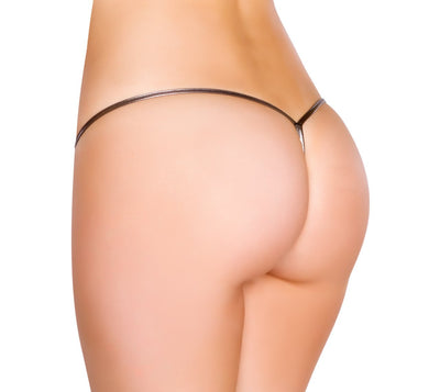 Metallic Low Rise String Back Bottom