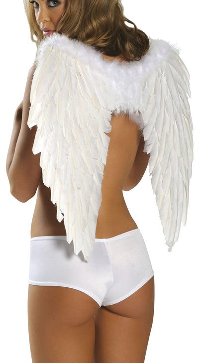 Buy Feathered Wings from Rave Fix for $29.99 with Same Day Shipping Designed by Roma Costume 1361-Wht-O/S