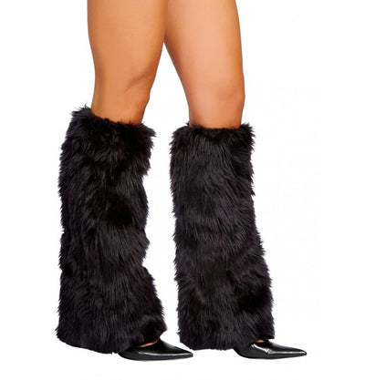 Buy Pair of Fur Boot Cover Fluffies from Rave Fix for $28.99 with Same Day Shipping Designed by Roma Costume C121-BLK-O/S